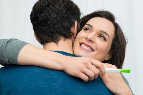 Fruchtbarkeit - positiver Schwangerschaftstest