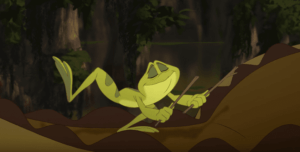 Grüner-Frosch mit wundervollen Botschaften