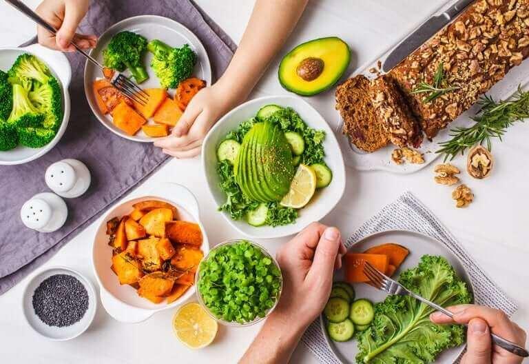 vegetarische Ernährung - vegetarische Mahlzeit