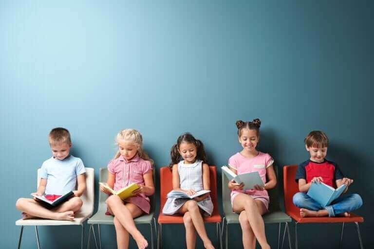 Kinderpädagogik - lesende Kinder