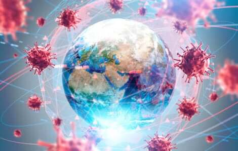 Darstellung der Pandemie des Coronavirus