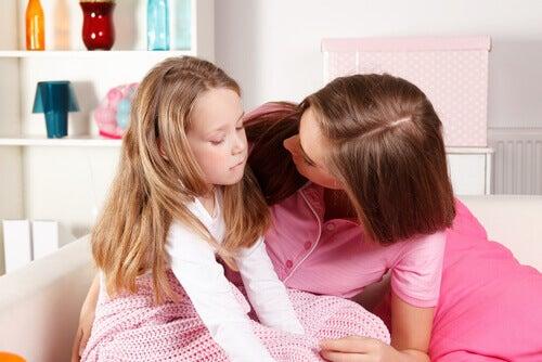 Rede mit deinem Kind, wenn es traurig ist